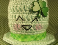 Happy St. Patrick's Day Hat (Free Crochet Pattern)