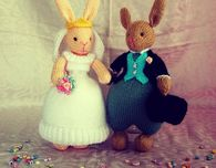 Knitted Bridal Bunnies