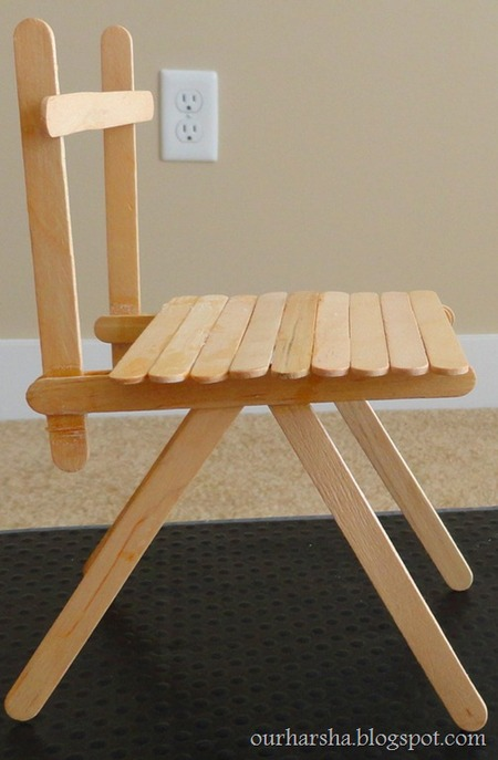 Popsicle Sticks Chair Craftfoxes