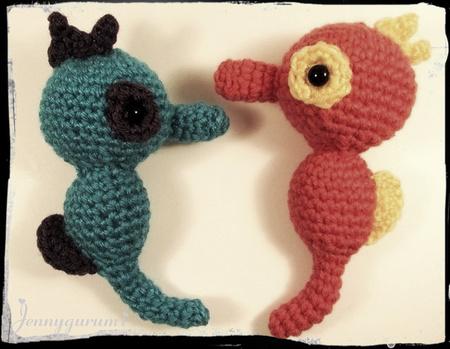 Amigurumi Seahorse Crochet Free Patterns | Tier häkeln kostenlos ... | 349x450