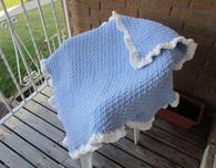 Crochet Ruffle Edge Baby Blanket