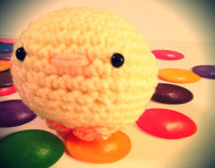 Spring Squishie Easter Chick (Free Crochet Pattern)