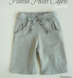 Child's Pleated Pocket Capris