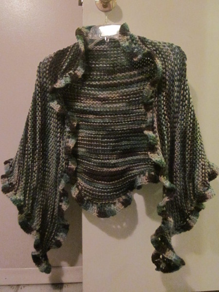 Knit-Crochet Shawl