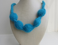 "Knitted ""Pearl"" Necklace"