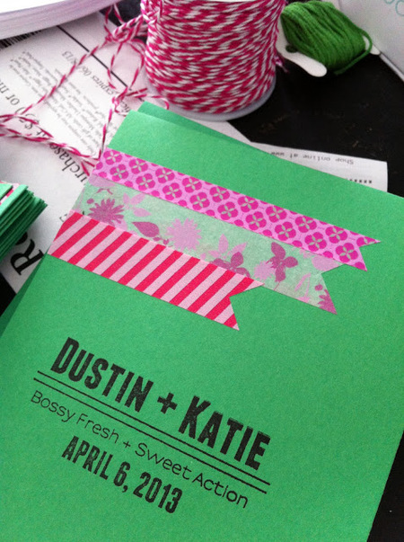 Washi Tape Wedding Programs