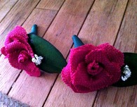 DIY Wedding Flowers — Burlap Roses