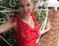 1950s Vintage Red Dress