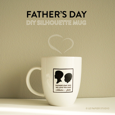Father's Day Silhouette Coffee Mug