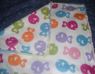 Fleece Blanket with Crochet Edging
