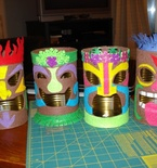 Tin Can Tiki Lamps
