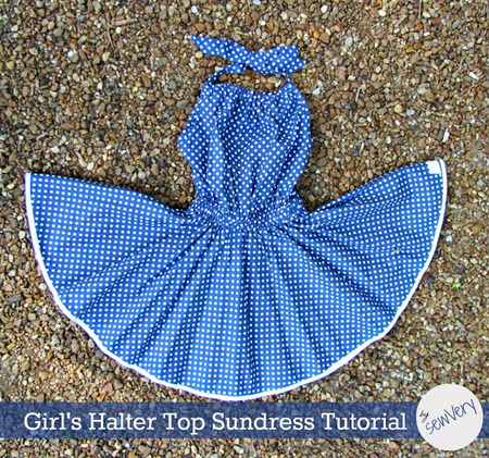 Girl's Halter Top Sundress