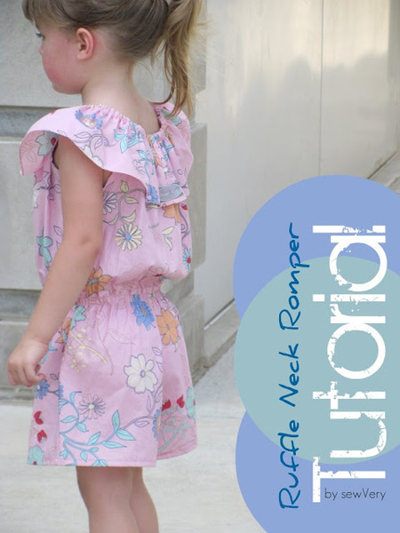 Ruffle Neck Romper for Girls