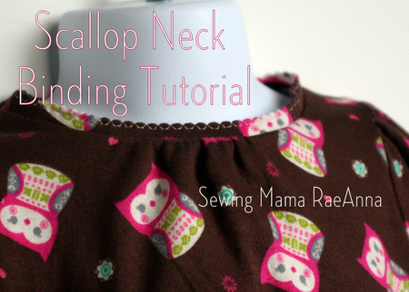 Scallop Binding Tutorial and T-shirt