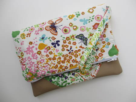 Butterfly and Flower Clutch
