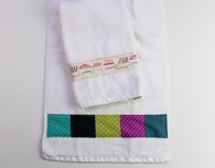 Easy DIY Decorated Hand Towels