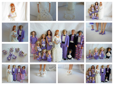 Crochet Barbie Wedding Set For Little Miss
