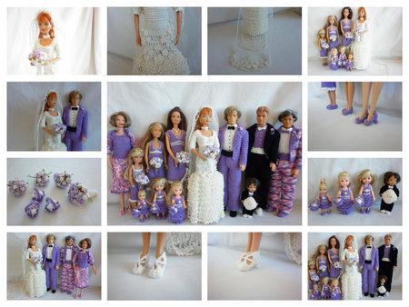 Crochet Barbie Wedding Set For Little Miss