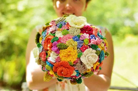 Crocheted Wedding Bouquet