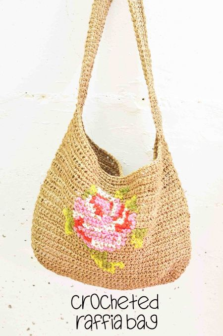 Crocheted Raffia Bag