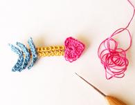 Crochet a Cupid's Heart Arrow Brooch