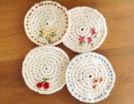 Springtime Crocheted Coasters