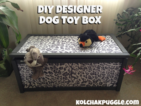 DIY Designer Dog Toy Box