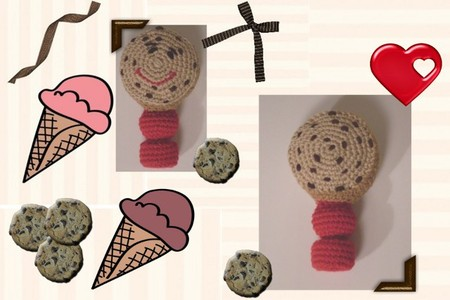 Yum-Yum The Chocolate Chip Cookie Baby Rattle