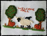 Little Fall Sheep - Free Cross Stitch Pattern