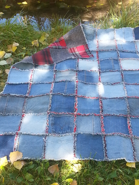 Denim And Flannel Rag Style Quilt Craftfoxes