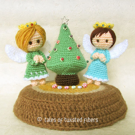 Free Patterns — Miniature Christmas Tree & Angels