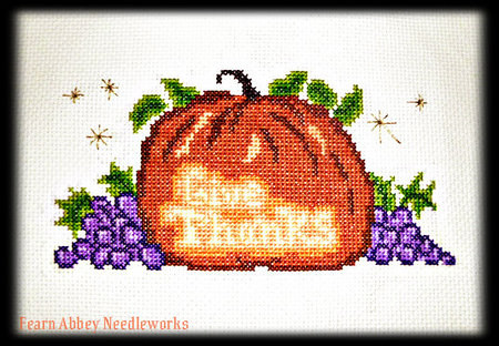 "Free ""Give Thanks"" Cross-Stitch Chart"