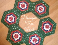 Hexagon Christmas Tree Skirt Tutorial