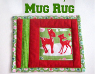 Fussy Cut Holiday Mug Rug