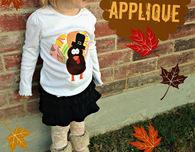 Snowman or Turkey Applique