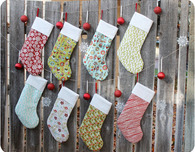 Free Christmas Stockings Template and Tutorial