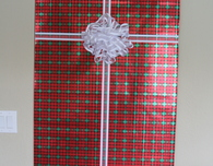 Door Christmas Card Holder