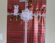 Door Christmas Card Holder