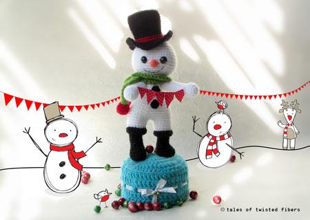 The Runaway Snowman - A Free Amigurumi Pattern