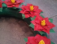Duct Tape Poinsettia Christmas Wreath