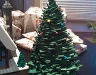 Duct Tape Christmas Tree Centerpiece