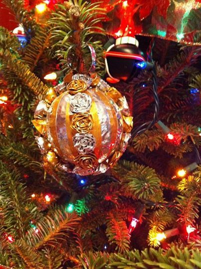 Silver & Gold Duct Tape Ornament