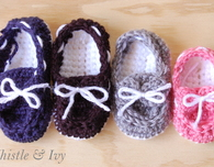 Baby Boat Booties Crochet Pattern