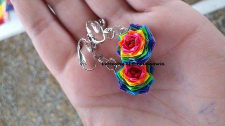 Clip on  Rainbow Earrings