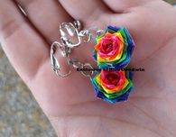Clip on  Rainbow Earrings