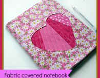 Fabric Covered Notebook for Valentine's Day