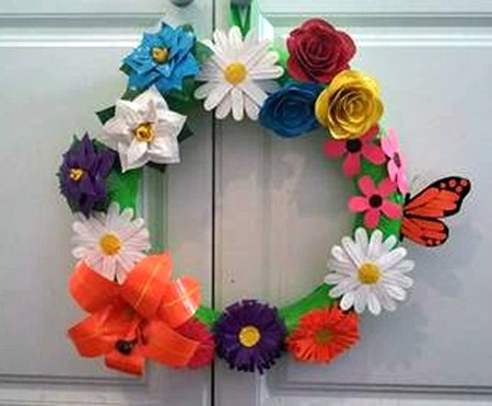 Springtime Duct Tape Wreath