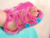 Baby Button Gladiator Sandals