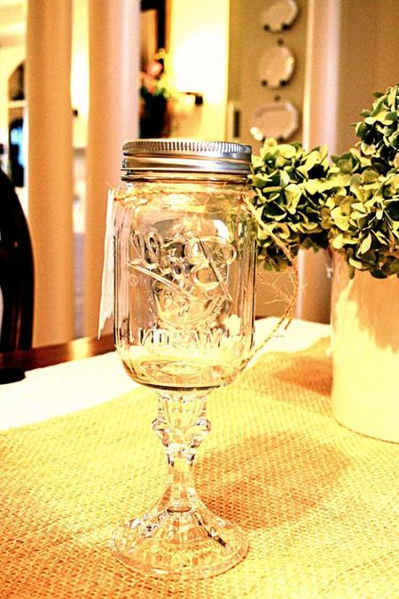 Fancy Mason Jar Wine Glasses