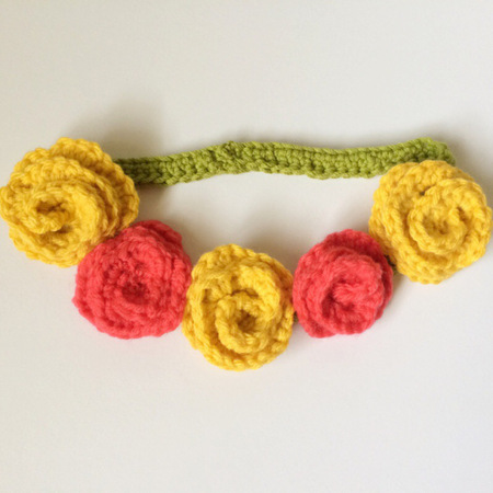 Crochet Flower Child Crown